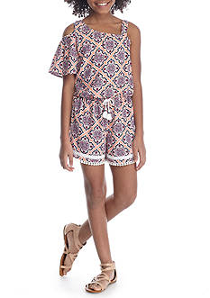 SEQUIN HEARTS girls One Shoulder Romper Girls 7-16