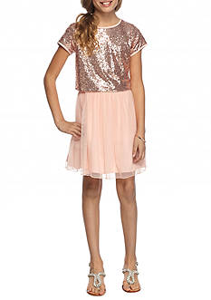 SEQUIN HEARTS girls 2-Piece Sequin Top and Skirt Set Girls 7-16