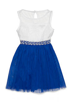 SEQUIN HEARTS girls Mesh Bodice Jewel Gown Girls 7-16