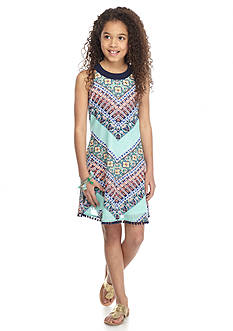SEQUIN HEARTS girls Chevron Print Swing Dress Girls 7-16