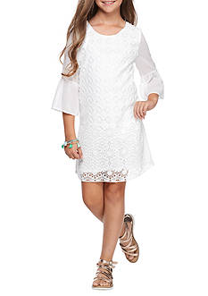 SEQUIN HEARTS girls Front Lace Shift Dress Girls 7-16