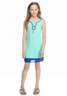 SEQUIN HEARTS girls Printed Novelty Shift Dress Girls 7-16