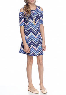 SEQUIN HEARTS girls Chevron Print Dress Girls 7-16