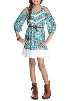 SEQUIN HEARTS girls Belted Cold Shoulder Dress Girls 7-16