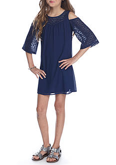 SEQUIN HEARTS girls Lace Cold Shoulder Dress Girls 7-16