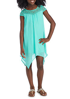 SEQUIN HEARTS girls Lace Neck Dress Girls 7-16
