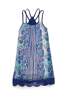 SEQUIN HEARTS girls Multi Print Dress Girls 7-16