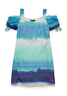 SEQUIN HEARTS girls Tie Dye Cold Shoulder Dress 7-16