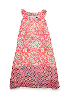 SEQUIN HEARTS girls Border Print Dress Girls 7-16