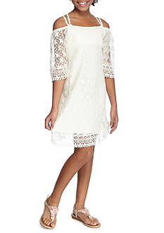 SEQUIN HEARTS girls Cold Shoulder Lace Dress Girls 7-16