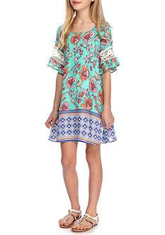 SEQUIN HEARTS girls Floral Print Shift Dress Girls 7-16