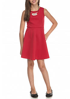 My Michelle Sleeveless Fit and Flare Dress Girls 7-16