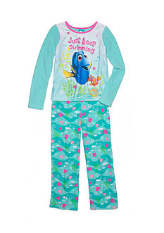 Disney Pixar Finding Dory Fleece Pajama Set Girls 4-16