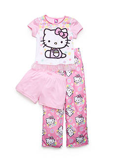 Hello Kitty by Sanrio 3-Piece Character Floral Pajama Set Girls 4-10