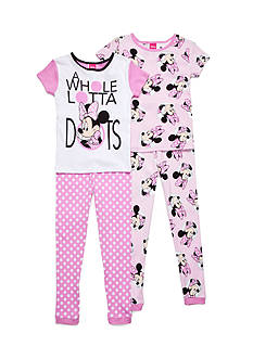 Disney Minnie Mouse Cotton Pajamas Set Girls 4-10