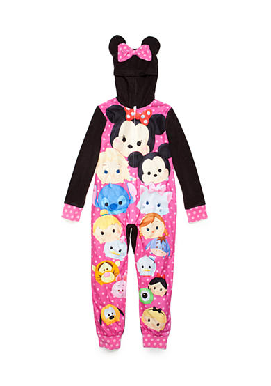Disney 1-Piece Minnie Mouse Tsum Tsum Hooded Pajama Girls 4-16