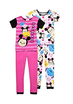 Disney Minnie Mouse Tsum Tsum Stars Pajamas Girls 4-10