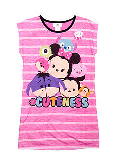 Disney Minnie Mouse Tsum Tsum Striped Nightgown Girls 4-16
