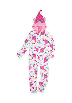 DreamWorks Trolls 1-Piece Hooded Pajama Girls 4-16