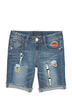 Imperial Star Patches Bermuda Shorts Girls 7-16