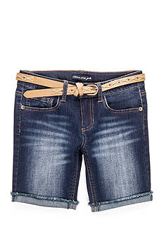 Imperial Star Belted Bermuda Shorts Girls 7-16