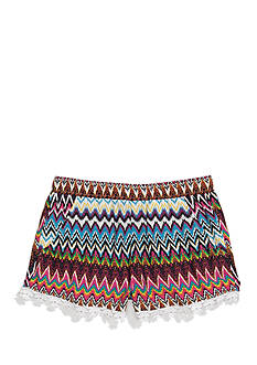 Imperial Star Challis Chevron Printed Shorts Girls 7-16