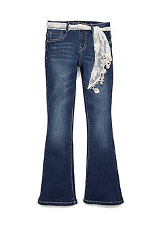 Imperial Star Crochet Sash Flare Jeans Girls 7-16