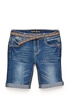 Imperial Star Tribal Belted Bermuda Shorts Girls 7-16