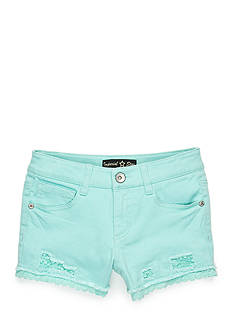 Imperial Star Crochet Accented Denim Shorts Girls 7-16