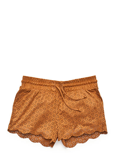 Imperial Star Suede Scallop Shorts Girls 7-16