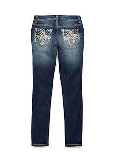 Imperial Star Embroidered Denim Skinny Jean Girls 7-16