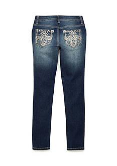 Imperial Star Embroidered Denim Skinny Jean Girls 7-16
