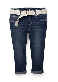 Imperial Star Crochet Belted Capri Pants Girls 7-16