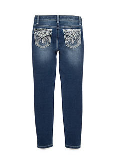 Imperial Star Embroidered Knit Skinny Denim Girls 7-16