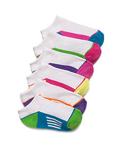 J. Khaki 6-Pack Athletic Low Cut Socks Girls 7-16