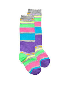 J Khaki™ Neon Stripe Knee High Socks Girls 4-16