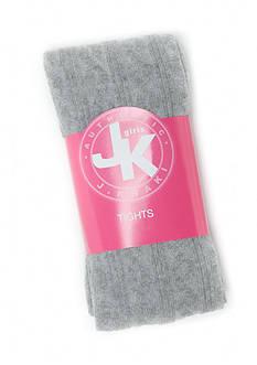 J. Khaki Cableknit Tights Girls 4-6x