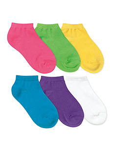 J. Khaki® 6-Pack Assorted Low Cut Socks Girls 4-16