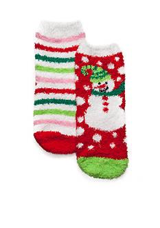 J. Khaki 2 Pack Snowman Slipper Socks