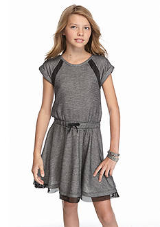 DKNY Mesh Trim Dress Girls 7-16