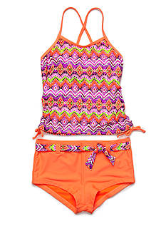 Angel Beach 2-Piece Mystique Print Tankini Girls 7-16