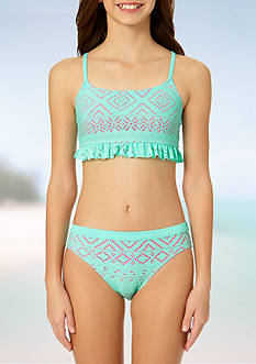 Angel Beach Crochet 2-Piece Bikini Girls 7-16