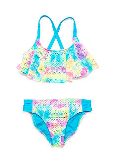 Angel Beach Paradise Flounce Bikini Girls 7-16