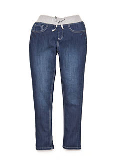 JK Indigo High Cuff Knit Jeans Girls 7-16