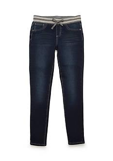 J. Khaki Striped Gold Lurex Waist Jeans Girls 7-16