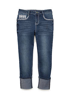 Red Camel® Embroidered Pocket High Cuff Jeans Girls 7-16