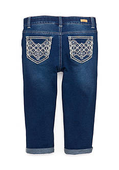 Red Camel® Embroidered Pocket Knit Crop Jeans Girls 7-16