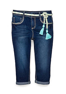 Red Camel® Cropped Jean with Tassel Belt Girls 7-16