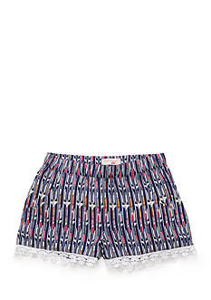 Red Camel® Striped Print Soft Shorts Girls 7-16