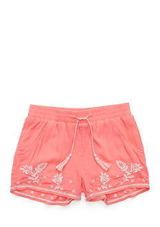 Red Camel® Embroidered Crinkle Shorts Girls 7-16